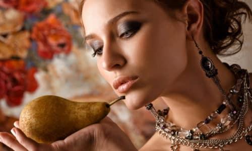 В отличие от яблока груша обладает меньшей кислотностью