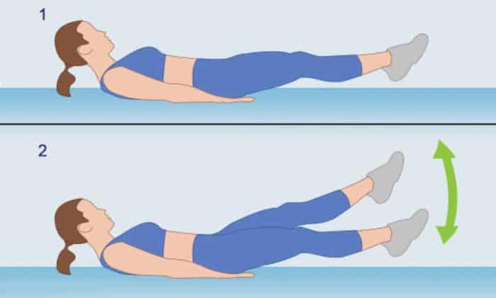 Такое упражнение как «Ножницы», тоже включают в комплекс упражнений при панкреатите