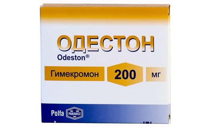 В случае риска развития холецистита доктор назначает Одестон, лекарство устраняет болевые ощущения, тошноту и рвоту