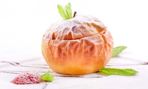 В полдник понедельника можно съесть яблоко запеченное