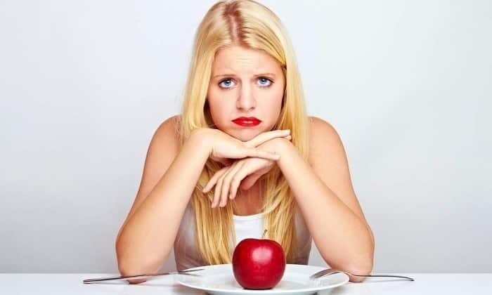 Потеря аппетита. Обусловлена нехваткой витаминов и микроэлементов в организме