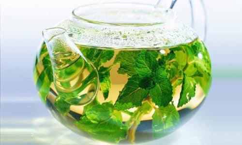 Для мятного чая cвежие листья можно заменить сушеными