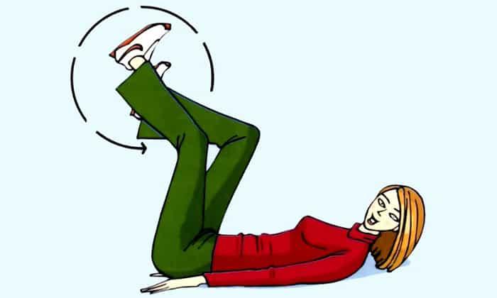 Комплекс ЛФК при панкреатите должен содержать простые упражнения, например «Велосипед»