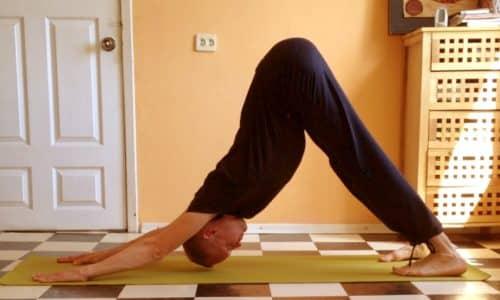Упражнение «собака мордой вниз» поможет снять болезненные ощущения разной степени интенсивности и улучшить кровообращение