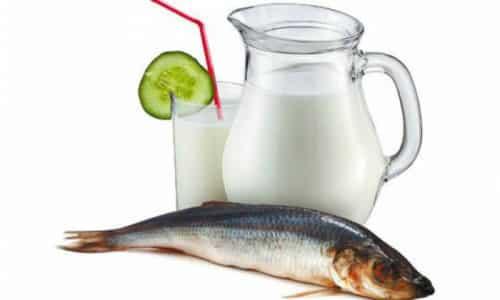 Свежая рыба и молоко при одновременном их принятии провоцируют образование эффекта брожения