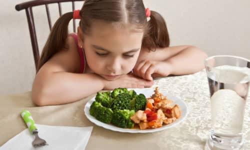 Тошнота и рвота у ребенка без повышения температуры тела могут возникать в связи с реакцией организма на продукт, который есть в рационе