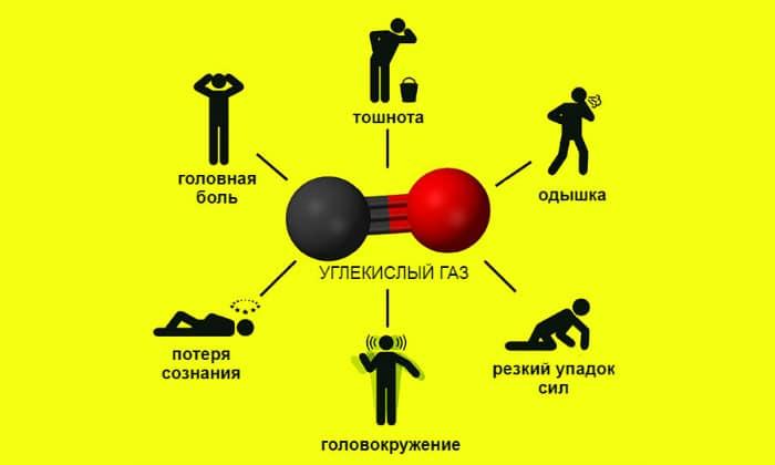 С учетом ядовитого компонента выделяют отравление угарным газом