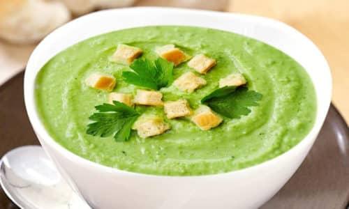 Суп пюре разрешен в диете при хроническом гастрите, а так же котлеты, приготовленные на пару