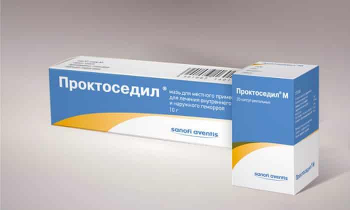 При лечении геморроя используют Проктоседил