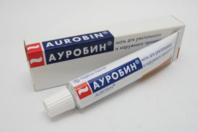 Ауробин - мазь против геморроя, выполненная на основе гормонов, что обуславливает ее использование только по назначению лечащего врача