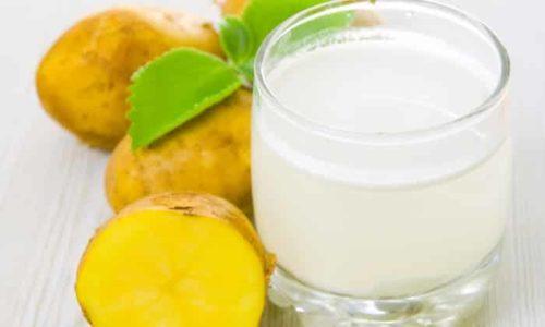 Сок картофеля принимается 3 раза в день перед едой, причем доза постепенно увеличивается с 25 мл до 100 мл, курс лечения - 15 дней