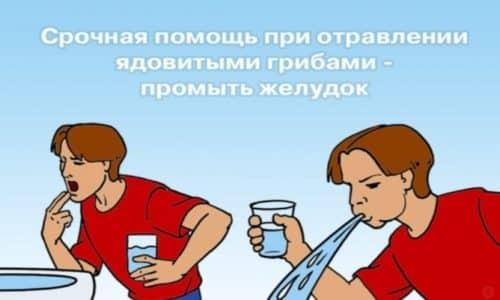 При появлении симптомов отравления нужно звонить в скорую помощь.Пока врачи едут, необходимо самостоятельно промыть желудок