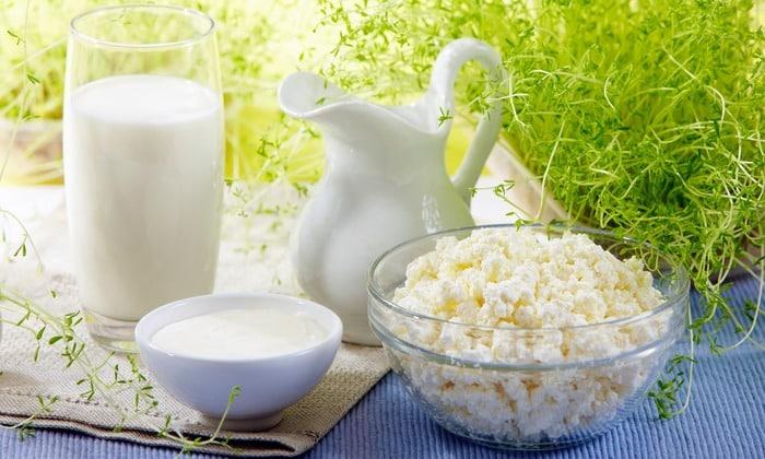 В меню входят нежирные молочные продукты