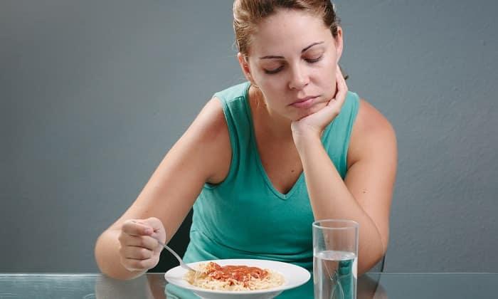 Может наблюдаться потеря аппетита при кишечном амебиазе