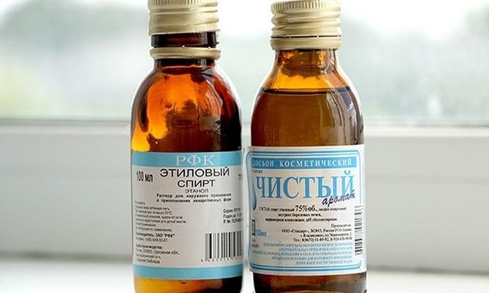 Рекомендуется применять чистый медицинский спирт. Принимать утром натощак в объеме 1 ч.л. и заедается маленьким кусочком сливочного масла
