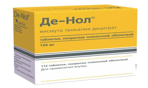 Де-Нол является противоязвенным средством с противомикробной активностью. После приема этих таблеток на язвах и эрозиях слизистой кишки образуется защитная пленка