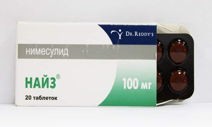 Препарат Найз назначают при геморрое для снятия воспаления