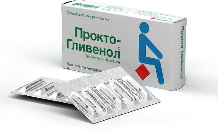 При геморрое назначают противовоспалительный препарат Проктогливенол