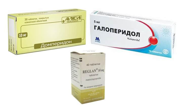 Для остановки рвоты врачи назначают противорвотные средства (Домперидон, Галоперидол, Реглан)
