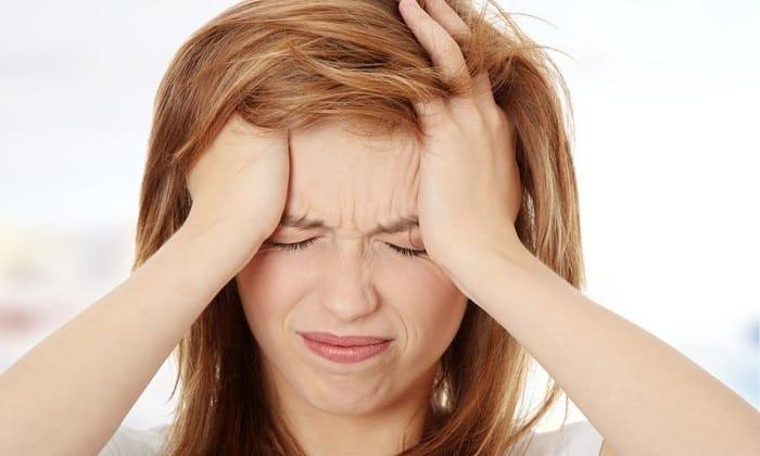 У человека может возникнуть сильная головная боль