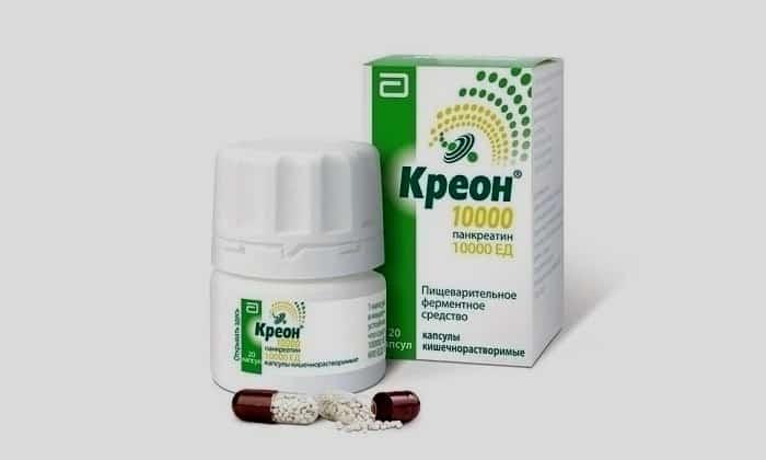 Кроме этого, в схему лечения может входить ферментный препарат Креон