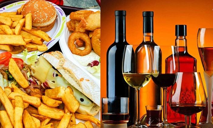 При развитом панкреатите нужно полностью исключить из рациона копченые, жареные, острые блюда и алкоголь