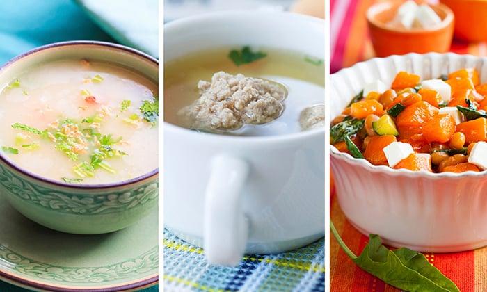 При остром панкреатите рекомендую включать в рацион салаты, овощное пюре, винегреты, супы на овощном бульоне, нежирную говядину, курицу