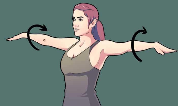 Больным панкреатитом противопоказаны изнурительные занятия спортом, оптимальные нагрузки может обеспечить ежедневная утренняя зарядка, например - вращения руками
