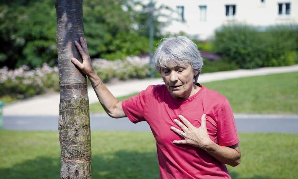 Одышка - типичное проявление дисфункции ПЖ
