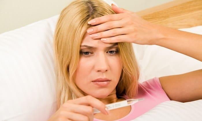 Слабость и повышение температуры тела - симптом рака щитовидной железы