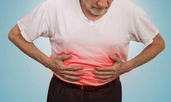 В качестве побочного эффекта У пациента наблюдается чувство тяжести в животе