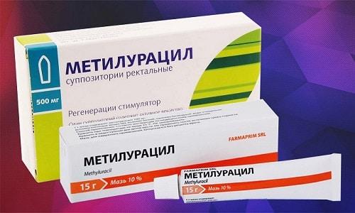 Мази, суппозитории и спреи на основе метилурацила являются распространенными заживляющими средствами