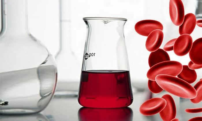 Частично действующее вещество проникает в кровь, ускоряет процесс образования эритроцитов и лейкоцитов
