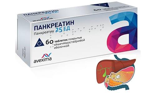 Ферменты, содержащиеся в препарате, не разрушаются под воздействием агрессивной среды желудка благодаря защитной оболочке и постепенно высвобождаются в тонком кишечнике