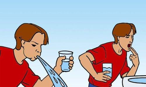При передозировке лекарства проводят промывание желудка