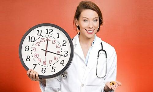 Максимальный эффект Атропина появляется спустя 20-40 минут