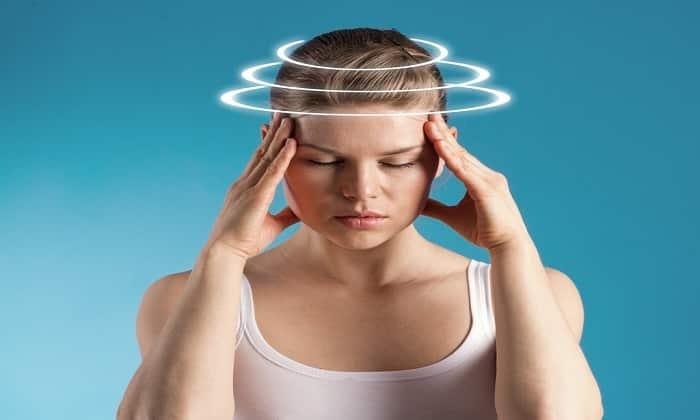 Во время терапии препаратами пациента могут беспокоить головокружения