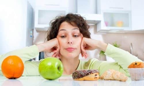 Расстройства функции ЖКТ могут возникать у пациентов с погрешностями в диете