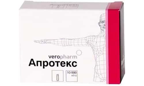 Медикаментозное средство Апротекс позволяет контролировать состояние крови и снижает воспалительные процессы в поджелудочной железе