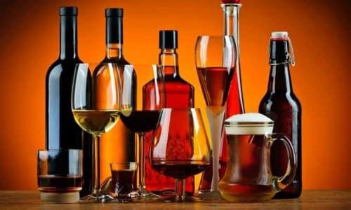 Алкогольные напитки на влияют на прием препарата