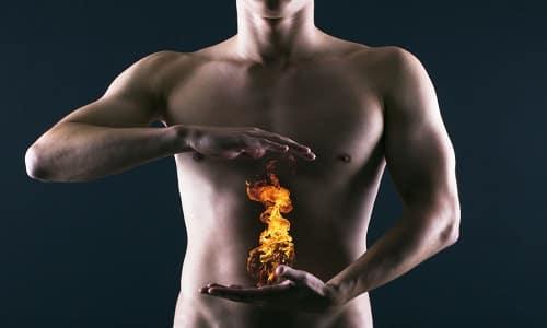 Препараты устраняют нарушение уровня кислоты, ликвидируют изжогу, боли при язвах, неприятные ощущения в желудке и пищеводе