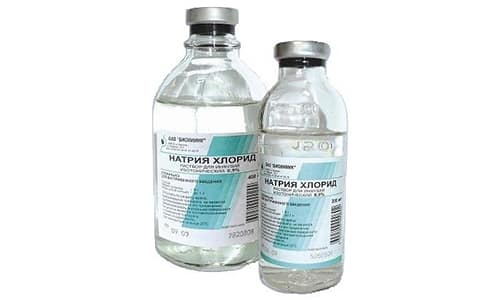Вспомогательные вещества в составе препарата - натрия хлорид