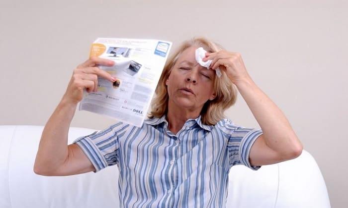 Побочные эффекты отмечаются при струйном введении раствора и проявляются в виде приливов