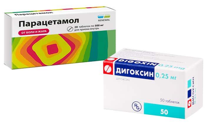Дигоксин, Парацетамол: лекарство Домстал не влияет на их всасывание и действие
