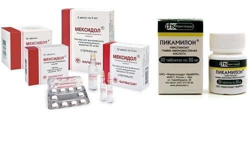 Пикамилон и Мексидол – препараты имеющие схожее антиоксидантное действие, но относящиеся к разным группам медикаментозных средств