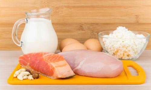 Основным источником карнитина являются животные продукты (молоко, творог, мясо)