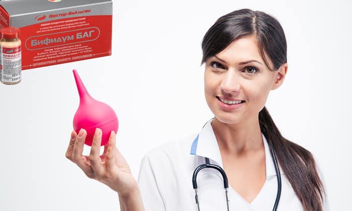 Бифидумбактерин используется для микроклизм и вагинальных примочек