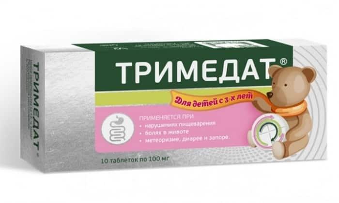 Тримедат 100 используют при диспептических состояниях у детей, спровоцированных нарушениями кишечной моторики