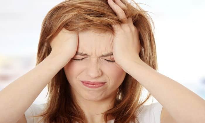 От препарата может возникнуть побочный эффект в виде головной боли