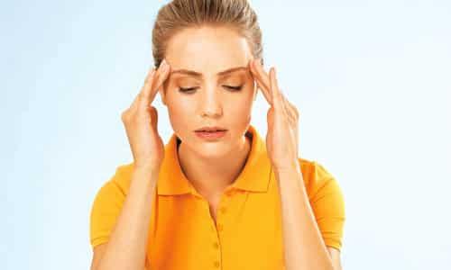 Иногда вследствие приема Дюспаталина может возникнуть головная боль